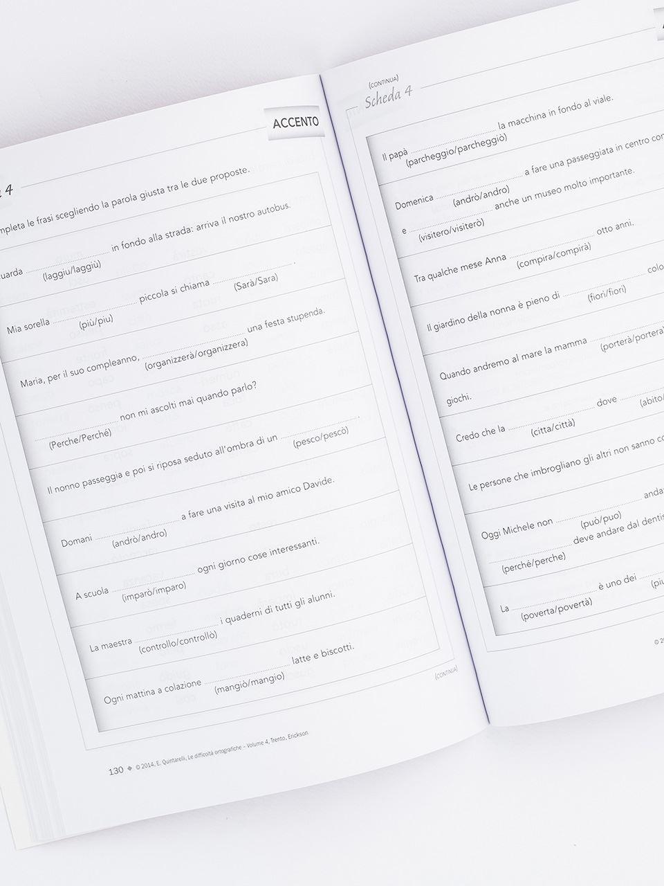 Le difficoltà ortografiche - Volume 4 - Libri - App e software - Erickson 2