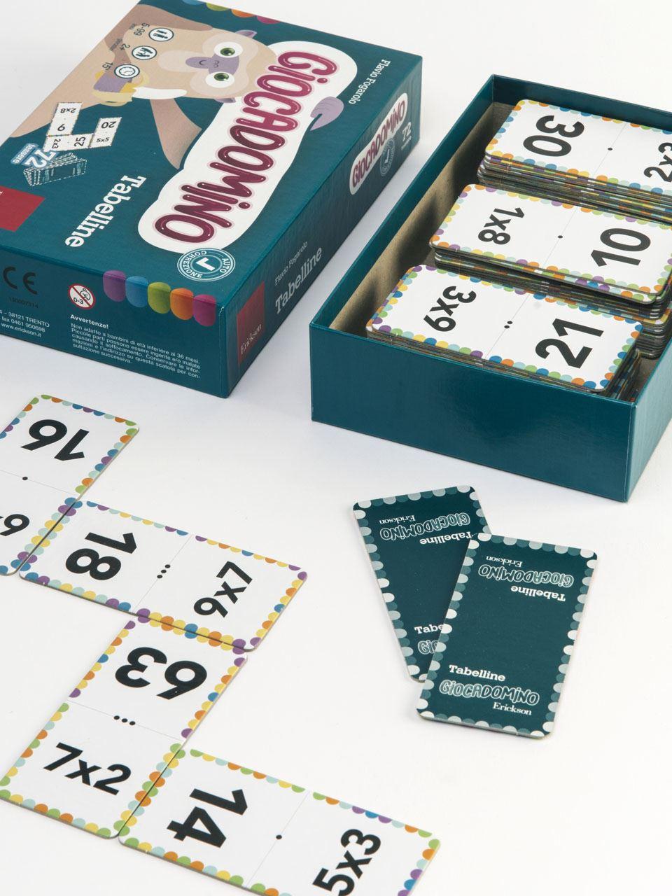 Giocadomino - Tabelline - Giochi - Erickson 2