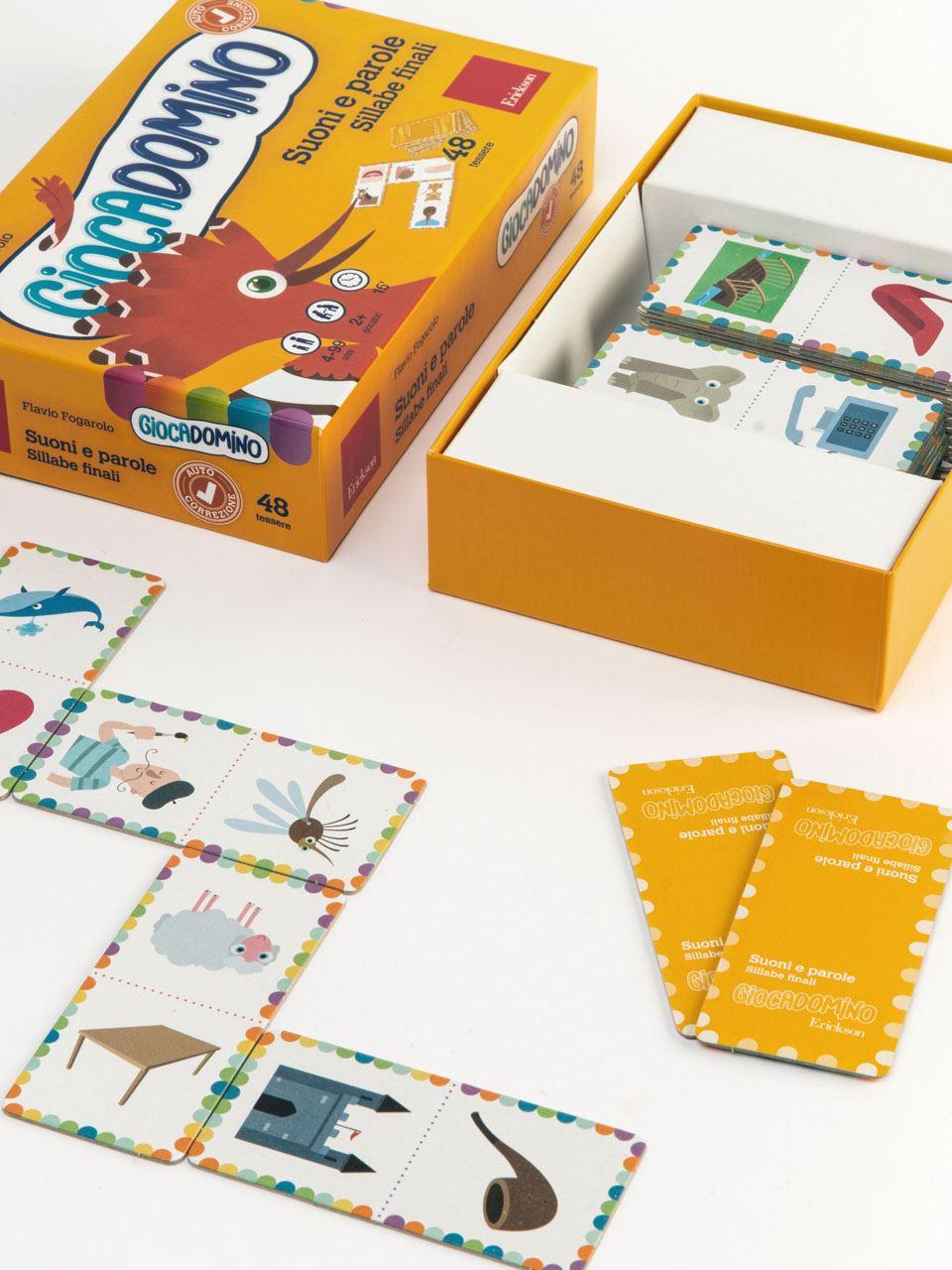 Giocadomino - Suoni e parole - Sillabe finali - Giochi - Erickson 2