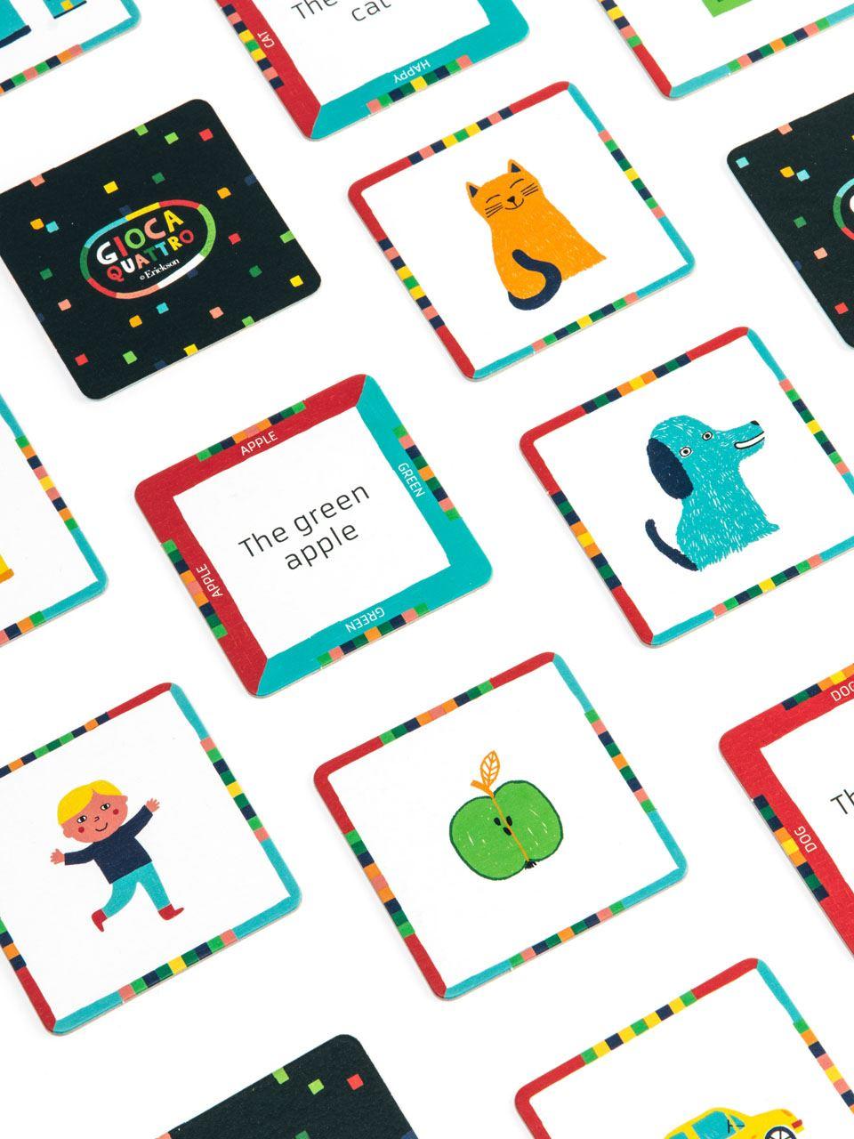 Giocaquattro - Inglese: nomi e aggettivi - Giochi - Erickson 2
