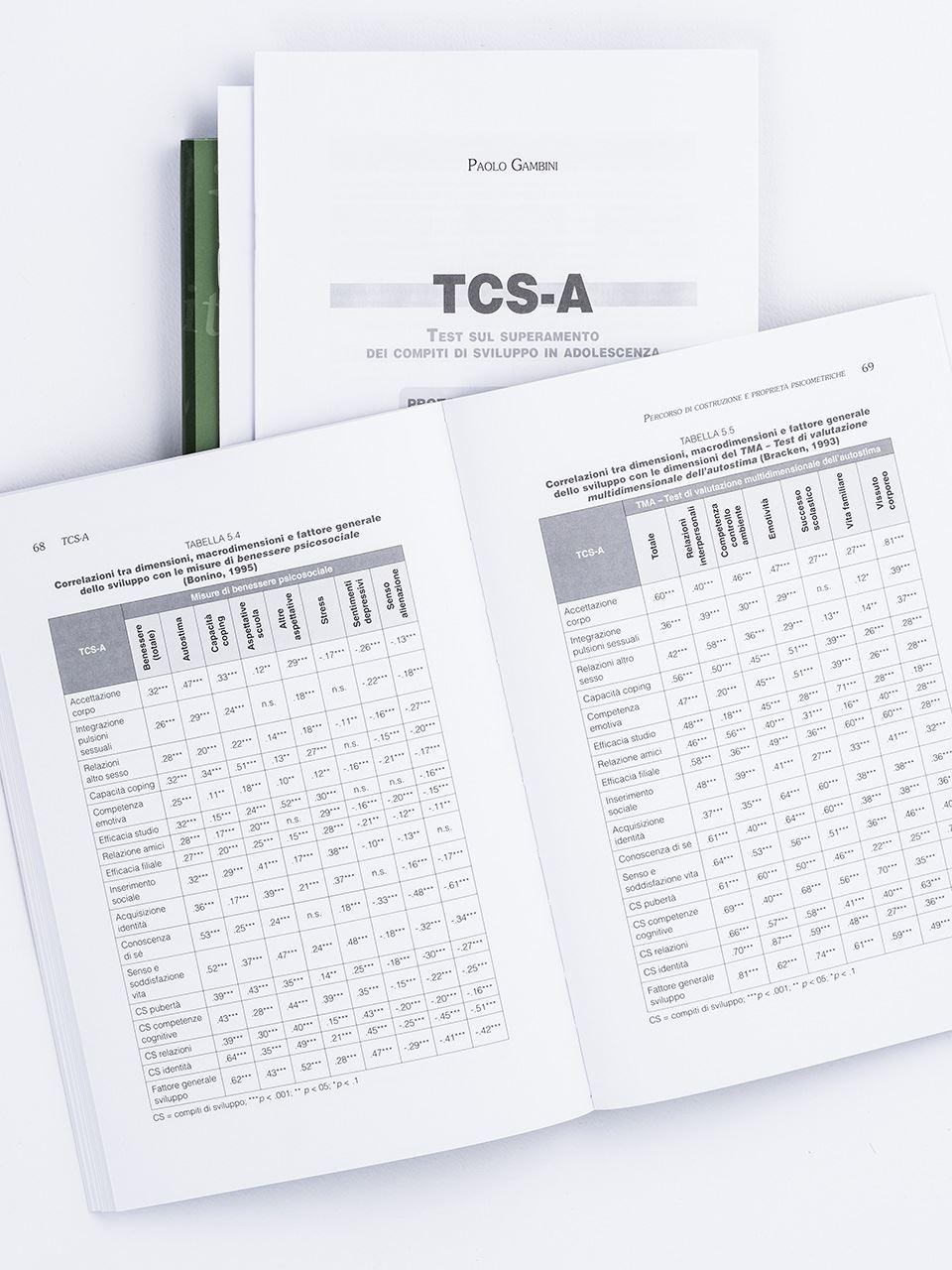 TCS-A – Test sul superamento dei compiti di svilup - Libri - Erickson 2