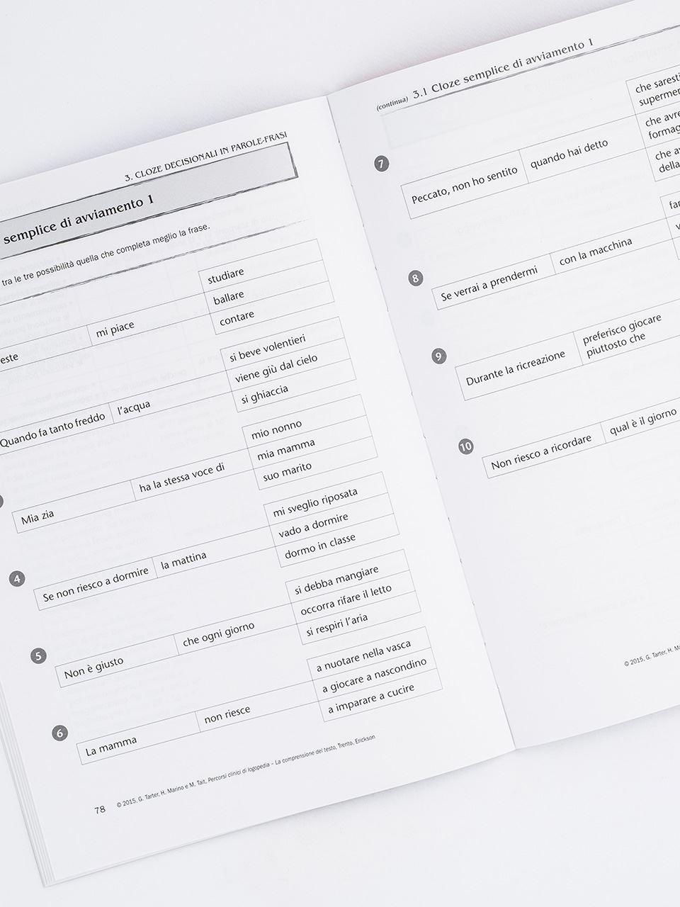 Percorsi clinici di logopedia - La comprensione de - Libri - Erickson 2