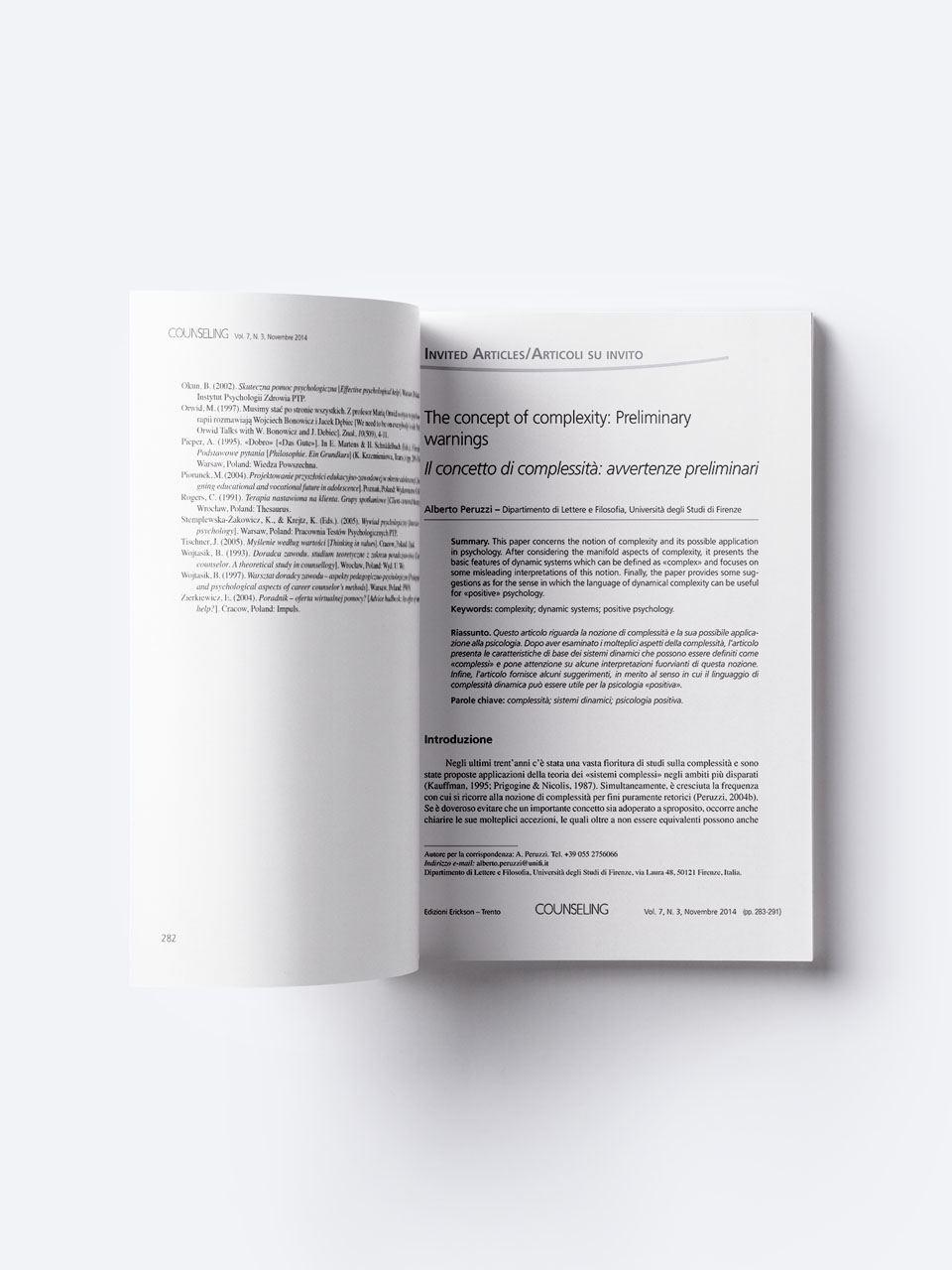 Counseling - Riviste - Erickson 2