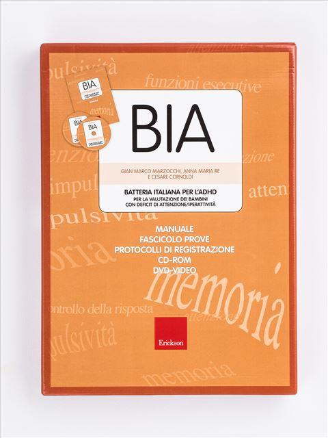 BIA - Batteria italiana per l'ADHD - Un'offerta completa di libri e corsi di formazione sul Disturbo da Deficit di Attenzione e Iperattività nei bambini. Scopri sul sito