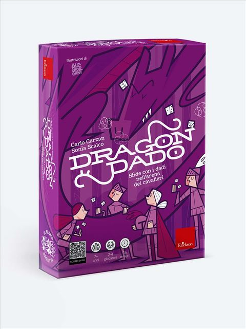 Dragondado - Sfide matematiche nell'arena dei cavalieri - Giochi Educativi, istruttivi e divertenti per bambini - Erickson
