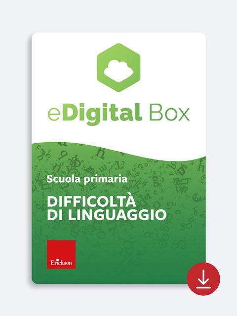 eDigital Box - difficoltà di linguaggio - primaria - App e software per Scuola, Autismo, Dislessia e DSA - Erickson