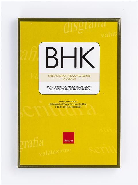 Test BHK - Scala sintetica per la valutazione della scrittura in età evolutiva - Disturbo specifico del tratto grafico (Disgrafia) - Erickson