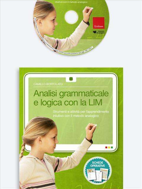 Analisi grammaticale e logica con la LIM - Metodo Analogico Bortolato: libri per matematica e italiano - Erickson