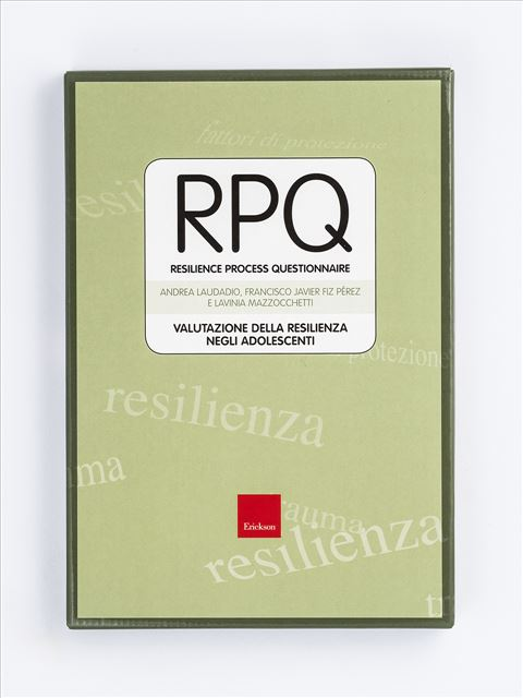 Test RPQ - Resilience Process Questionnaire - Psicologia clinica - Erickson