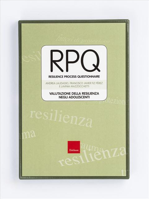 Test RPQ - Resilience Process Questionnaire - Psicologia età adulta - Erickson