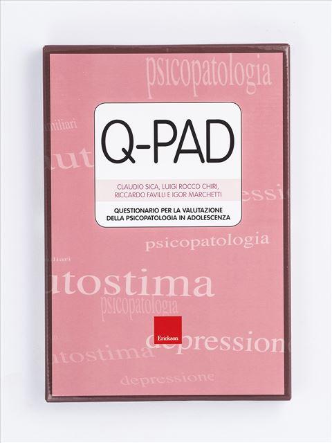 Test Q-PAD - Questionario per la valutazione della psicopatologia in adolescenza - Test diagnosi autismo, asperger, dislessia e altri DSA - Erickson