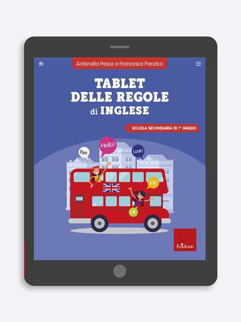 Tablet delle regole di inglese - Lingue straniere - Erickson