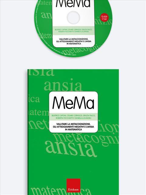 Test MeMa - Valutare la metacognizione, gli atteggiamenti negativi e l'ansia in matematica - Test diagnosi autismo, asperger, dislessia e altri DSA - Erickson