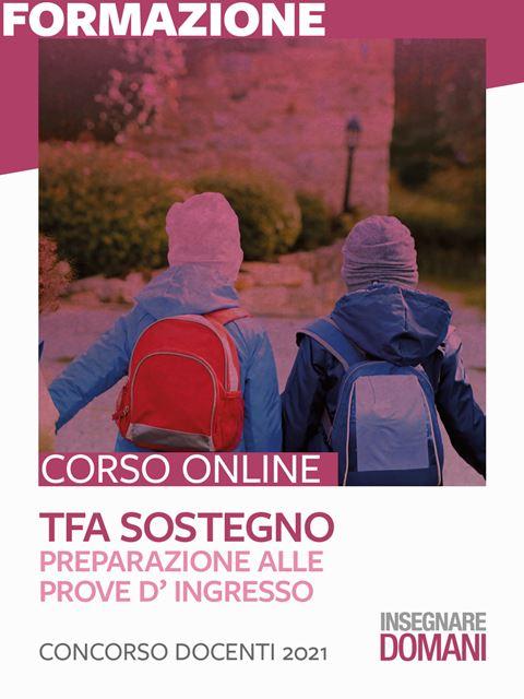 TFA sostegno - Preparazione alle prove d' ingresso Iscrizione Corso online - Erickson Eshop