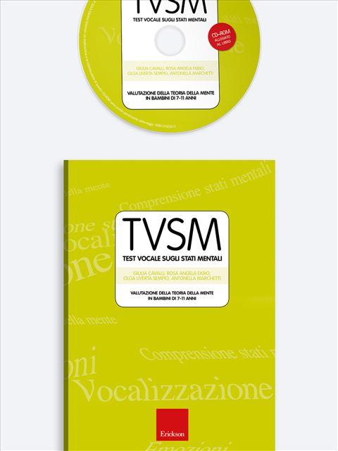 Test TVSM - Test Vocale sugli Stati Mentali - Psicologia clinica - Erickson