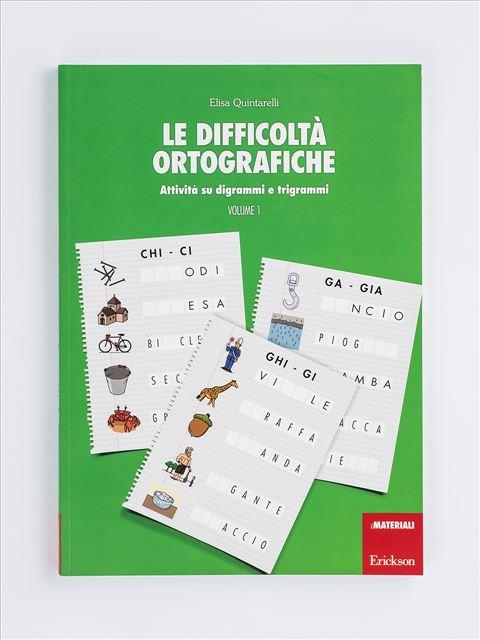 Le difficoltà ortografiche - Volume 1 - Search - Erickson 2