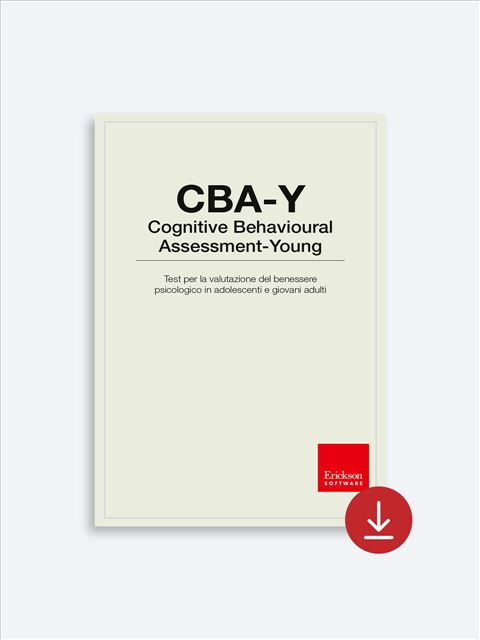 CBA-Y - Valutazione psicologica - Erickson 2