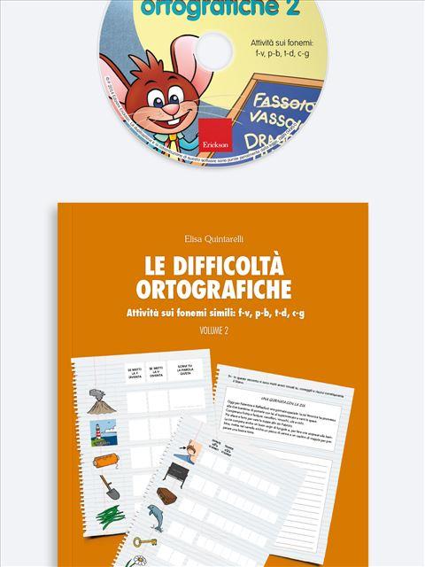 Le difficoltà ortografiche - Volume 2 - App e software per Scuola, Autismo, Dislessia e DSA - Erickson 2