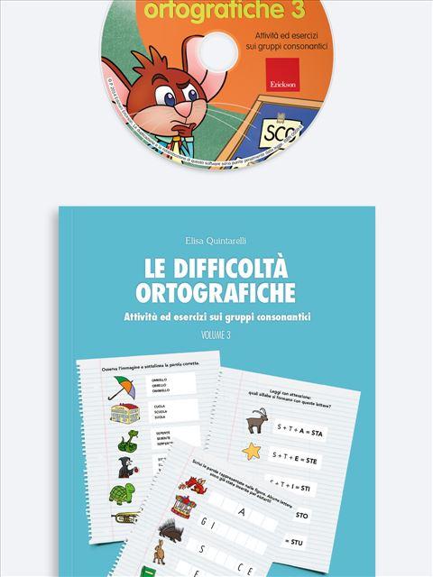 Le difficoltà ortografiche - Volume 3 - App e software per Scuola, Autismo, Dislessia e DSA - Erickson 3