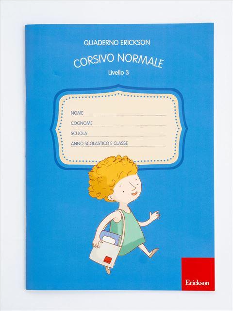 Quaderno Erickson per la disgrafia - Livello 3 - CORSIVO NORMALE - Disgrafia - Erickson