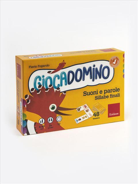 Giocadomino - Suoni e parole - Sillabe finali - Libri sulla Dislessia in bambini, ragazzi e adulti - Erickson