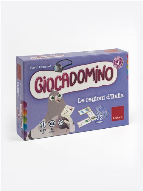 Giocadomino - Le regioni d'Italia - Giochi Educativi, istruttivi e divertenti per bambini - Erickson