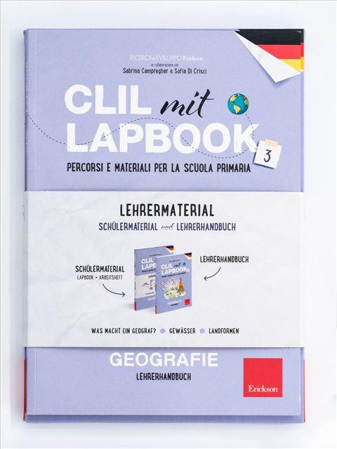CLIL mit LAPBOOK - Geografie - Classe terza - Apprendimenti dell'area storico-geografica - Erickson