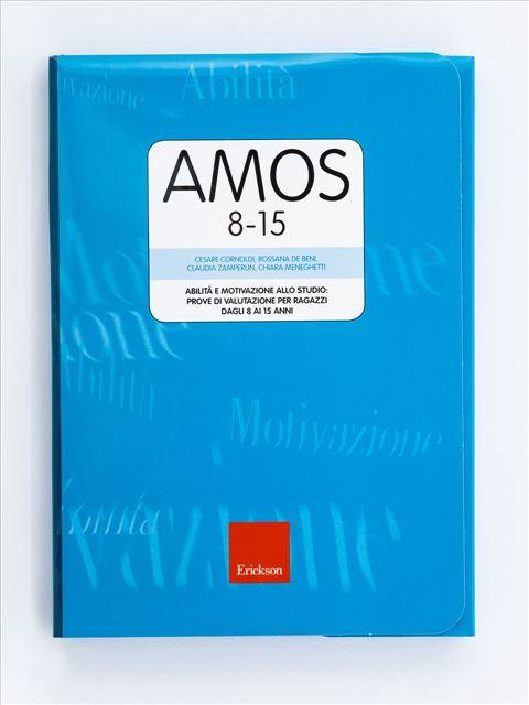 Test AMOS 8-15 - Abilità e motivazione allo studio: prove di valutazione per ragazzi dagli 8 ai 15 anni - Test sulla metacognizione e aspetti emotivo-motivazionali