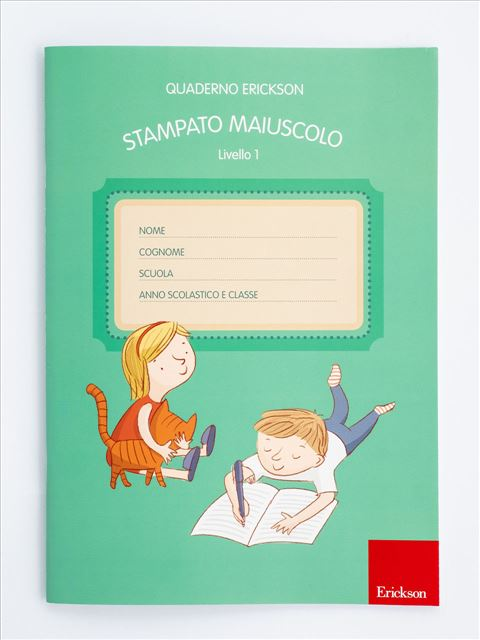Quaderno Erickson per la disgrafia - Livello 1 - STAMPATO MAIUSCOLO - Motricità - Erickson