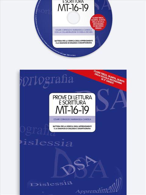 Prove di lettura e scrittura MT-16-19 - Test diagnosi autismo, asperger, dislessia e altri DSA - Erickson