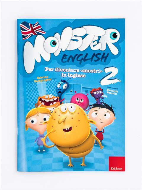 Monster English 2 - Libri per i compiti delle vacanze | Classe prima elementare