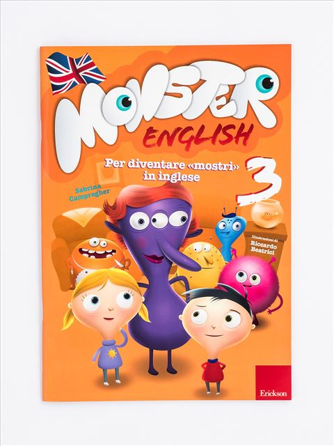 Monster English 3 - Monster English | Quaderni operativi di inglese per la primaria