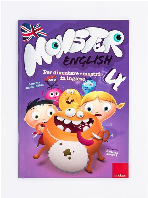 Monster English 4 - Libri per i compiti delle vacanze | Classe prima elementare