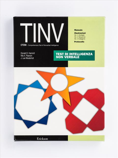 Test TINV - Intelligenza non verbale - Disabilità sensoriali (cecità, sordità, etc.) - Erickson