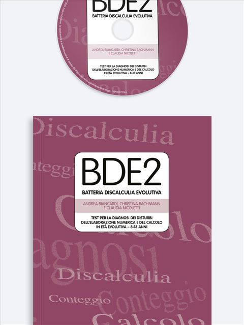BDE 2 - Batteria discalculia evolutiva - Test diagnosi autismo, asperger, dislessia e altri DSA - Erickson