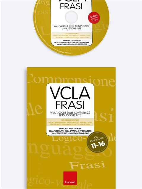 Test VCLA - FRASI Valutazione delle Competenze Linguistiche Alte - Test diagnosi autismo, asperger, dislessia e altri DSA - Erickson