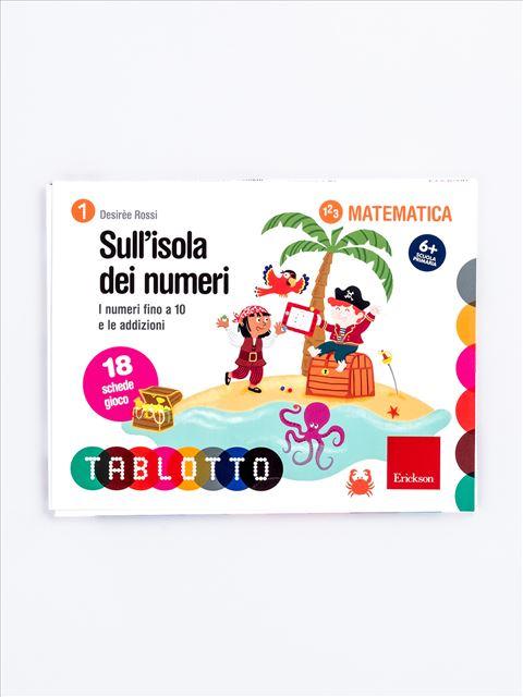 Schede per Tablotto (6-8 anni) - Sull'isola dei numeri - Lessico del numero - Erickson