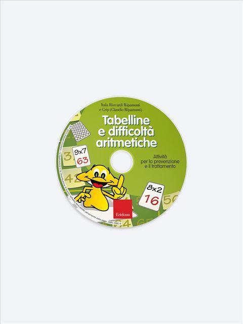 Tabelline e difficoltà aritmetiche - Prevenzione e trattamento delle difficoltà di nume - Libri - App e software - Erickson 2
