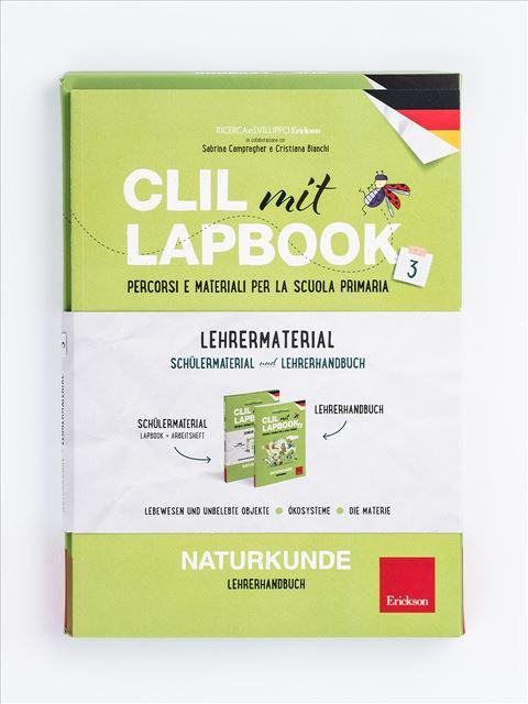 CLIL mit LAPBOOK - Naturkunde - Classe terza - CLIL mit LAPBOOK - Geografie - Classe terza - Libri - Erickson