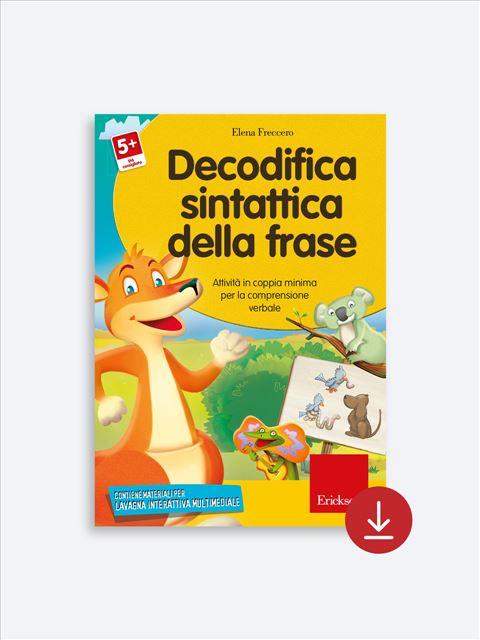 Decodifica sintattica della frase - App e software per Scuola, Autismo, Dislessia e DSA - Erickson 2