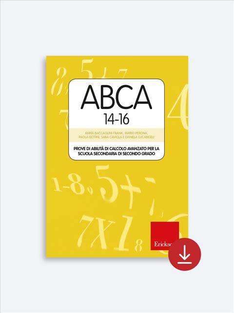 Test ABCA 14-16 - Valutazione educativo-didattica - Erickson 2