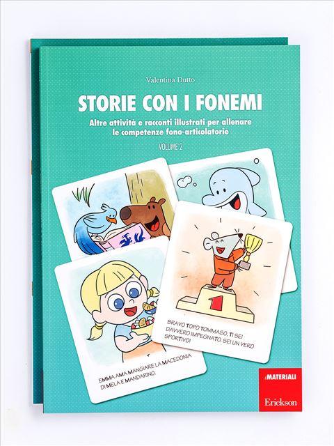 Storie con i fonemi - Volume 2 - Libri sulla Difficoltà di Linguaggio – Erickson