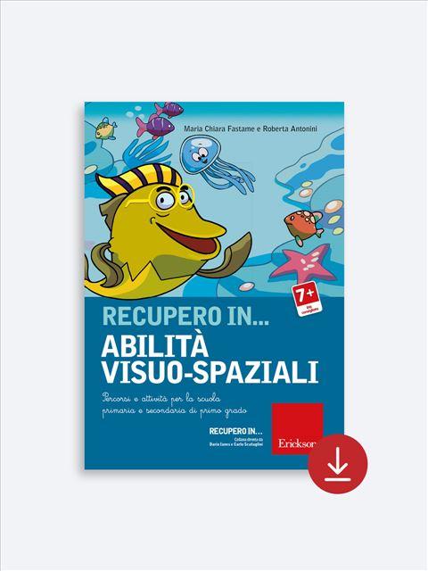 RECUPERO IN... Abilità visuo-spaziali - App e software per Scuola, Autismo, Dislessia e DSA - Erickson 2