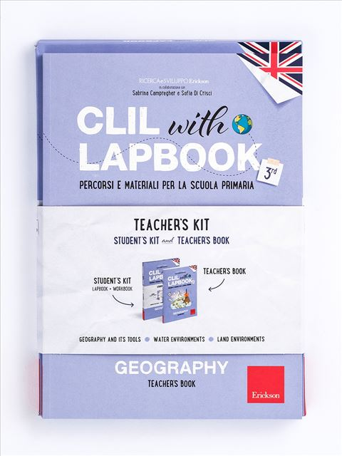 CLIL with LAPBOOK - GEOGRAPHY - Classe terza - CLIL with LAPBOOK - GEOGRAPHY - Classe quarta - Libri - Erickson