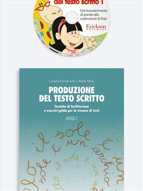 Produzione del testo scritto - Livello 1 - App e software per Scuola, Autismo, Dislessia e DSA - Erickson 3