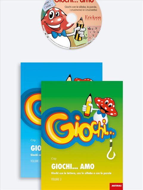 Giochi... amo Volume 1 + Volume 3 + CD-ROM 1 - didattica metacognitiva - Erickson