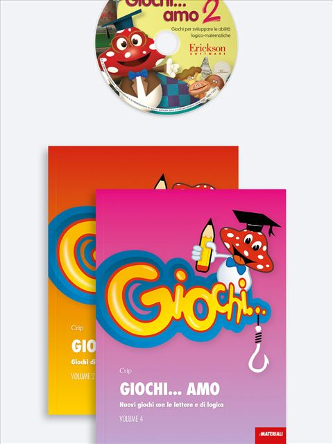 Giochi... amo Volume 2 + Volume 4 + CD-ROM 2 - didattica metacognitiva - Erickson