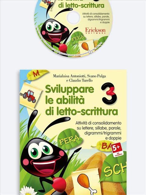Sviluppare le abilità di letto-scrittura 3 - App e software per Scuola, Autismo, Dislessia e DSA - Erickson