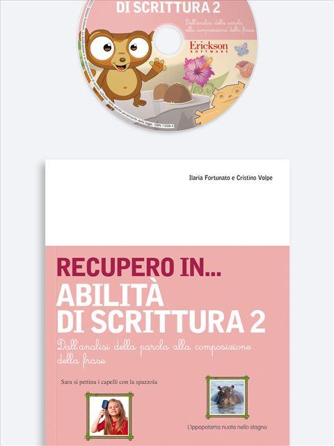 RECUPERO IN... Abilità di scrittura 2 - App e software per Scuola, Autismo, Dislessia e DSA - Erickson 3