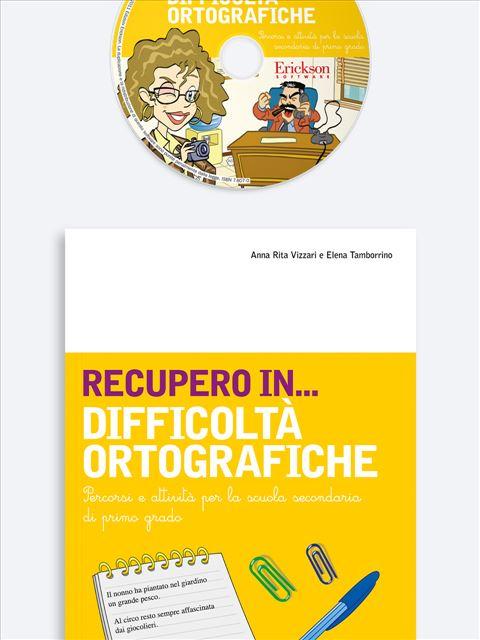 RECUPERO IN... Difficoltà ortografiche - App e software per Scuola, Autismo, Dislessia e DSA - Erickson 3